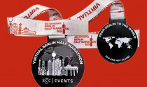 The medal of the VIRTUAL GENERALI BERLIN HALF MARATHON